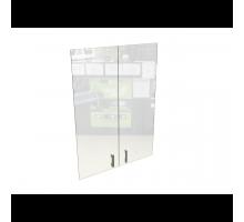 Двери стеклянные МР-37 (с фурнитурой) МР-37.С.Ф